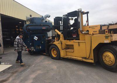 Installing a 34,000 lbs Matsuura Vertical Machining Center