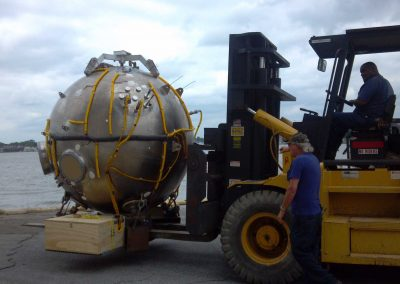 Moving a one of a kind 13,000 lbs RHOV Sphere Sub