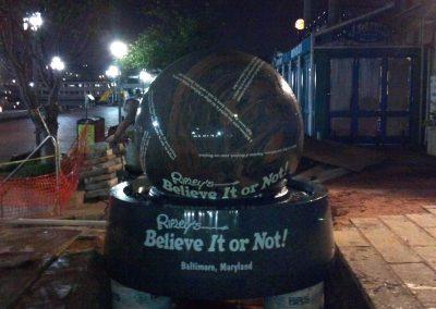 Lifting and placing a 8,500 lbs Granite Kugel Sphere